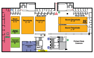 Second Floor map of Moody Library