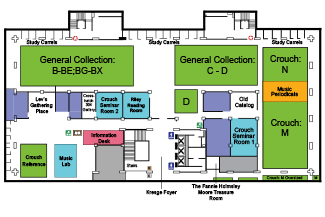 Third Floor map of Moody Library