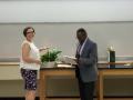 Dr. Erika Abel, Undergraduate Program Director & Senior Lecturer, with Dr. Dwayne D. Simmons, Department of Biology Chair