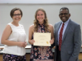 Drs. Abel and Simmons with one of the Folmar Undergraduate Tuition Scholarship recipients, Amanda Muck