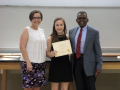 Drs. Abel and Simmons with one of the Limnology and Aquatic Ecology Scholarship Recipients, Sofia Sonner