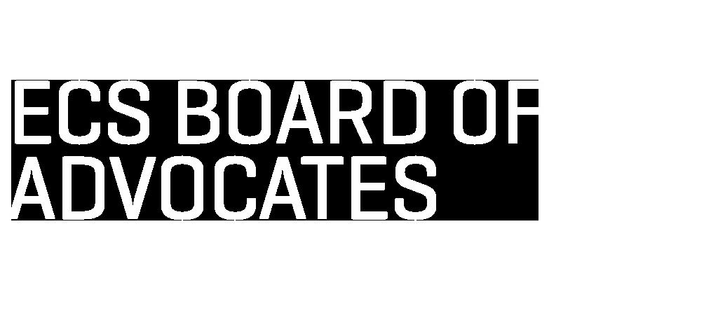 Title text treatment ECS Board of Advocates