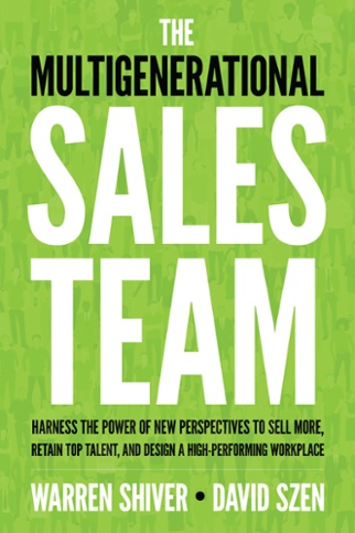 Book cover of the Multigenerational sales team
