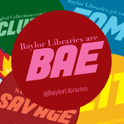 Baylor Libraries' Stickers Campaign logo