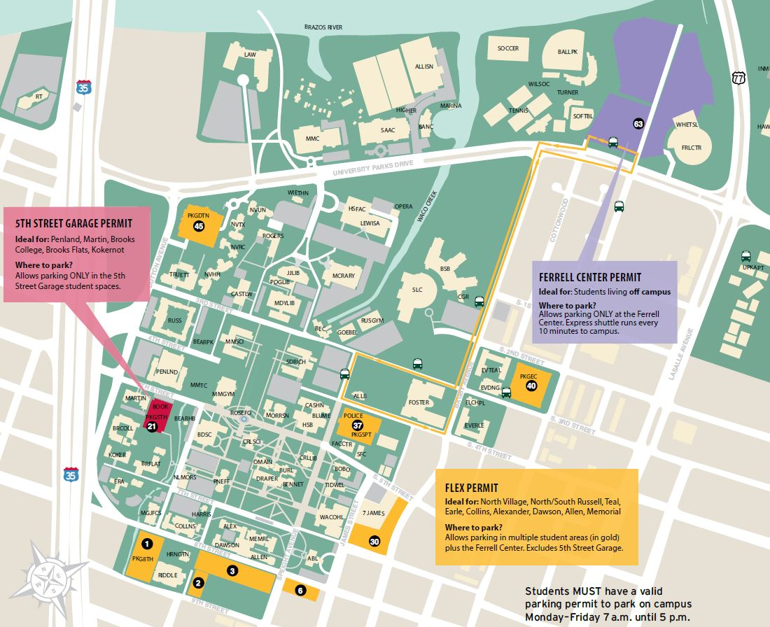 Baylor University Campus Map Www Topsimages Com