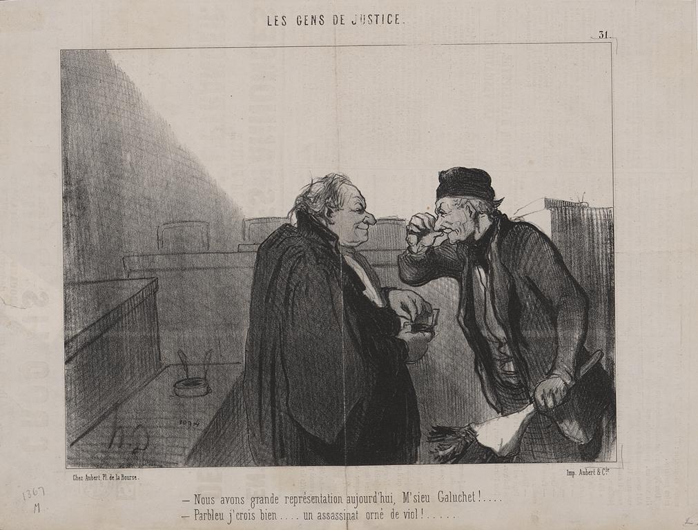 Honore Daumier, Les Gens De Justice, 1845-48