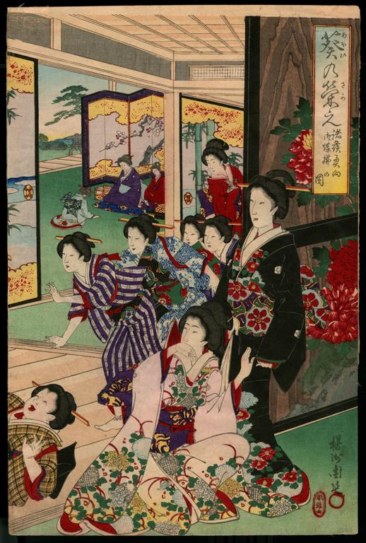 Yoshu Chikanobu, Women, 19th Century