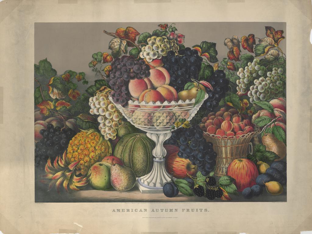 Fanny Palmer, American Autumn Fruits, 1865