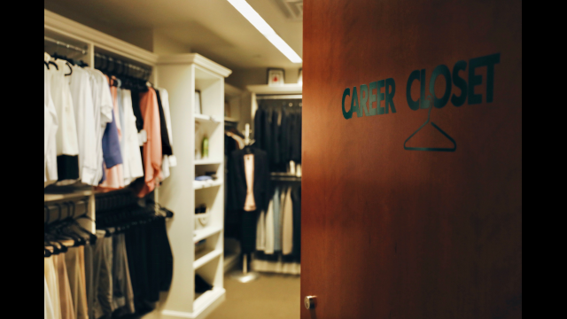 Superb Marjorie Ellis, Executive Director Of Career And Professional Development  At Baylor, Is Interviewed Inside The Career Closet, Which Provides Students  Who ...