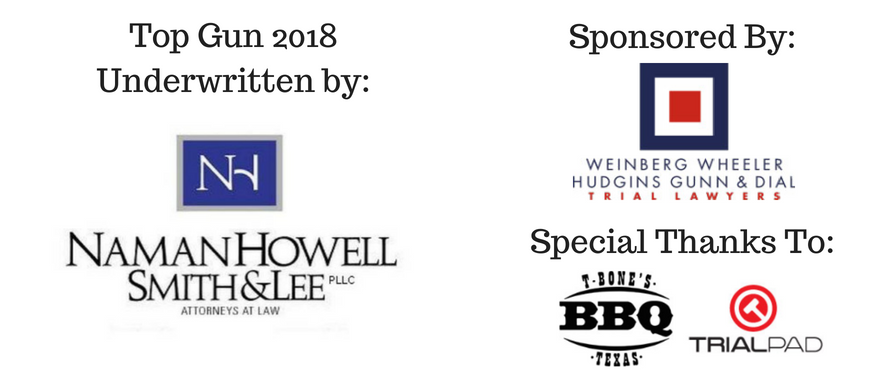 Full graphic of sponsors of Top Gun Mock Trial Competition