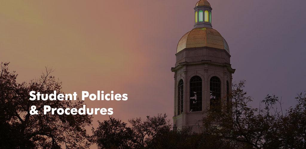 Student Policies & Procedures