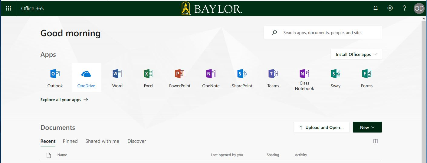 Office 365 Online | Information Technology Services | Baylor