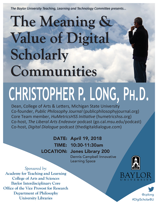 Flyer-Christopher P. Long #1 2018-04-19