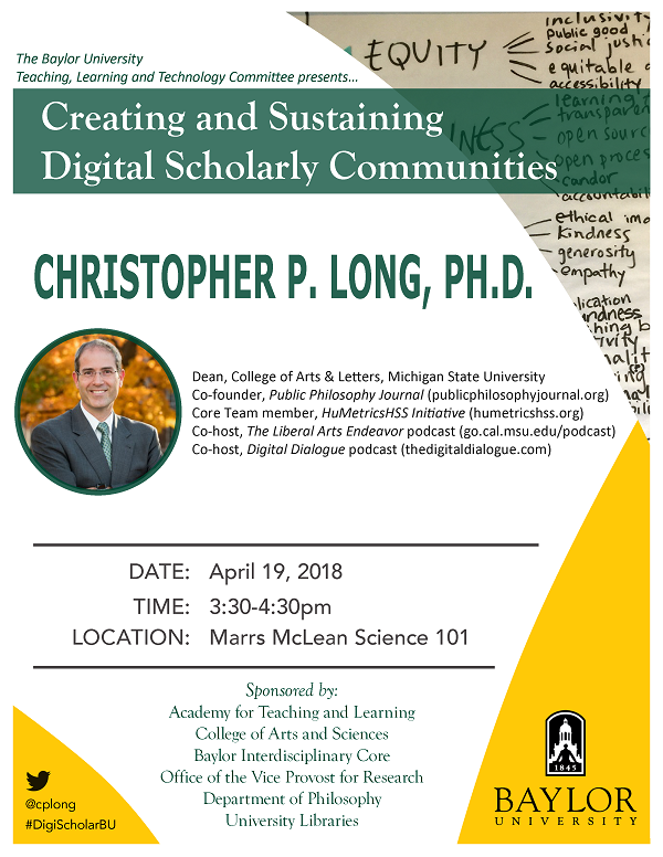 Flyer-Christopher P. Long #2 2018-04-19
