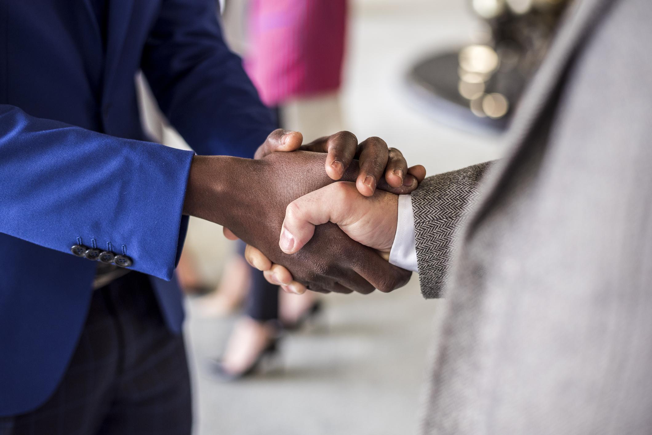 Stock photo of a handshake