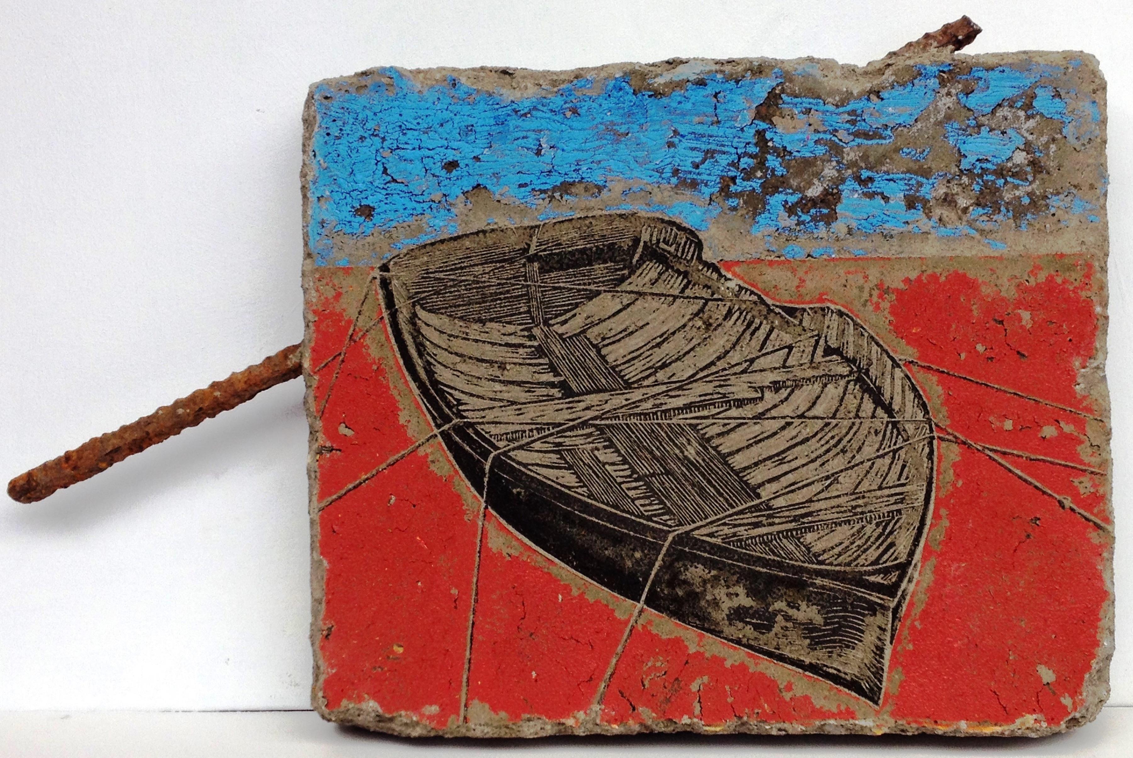 Dry Docked I | Concrete Relief Print