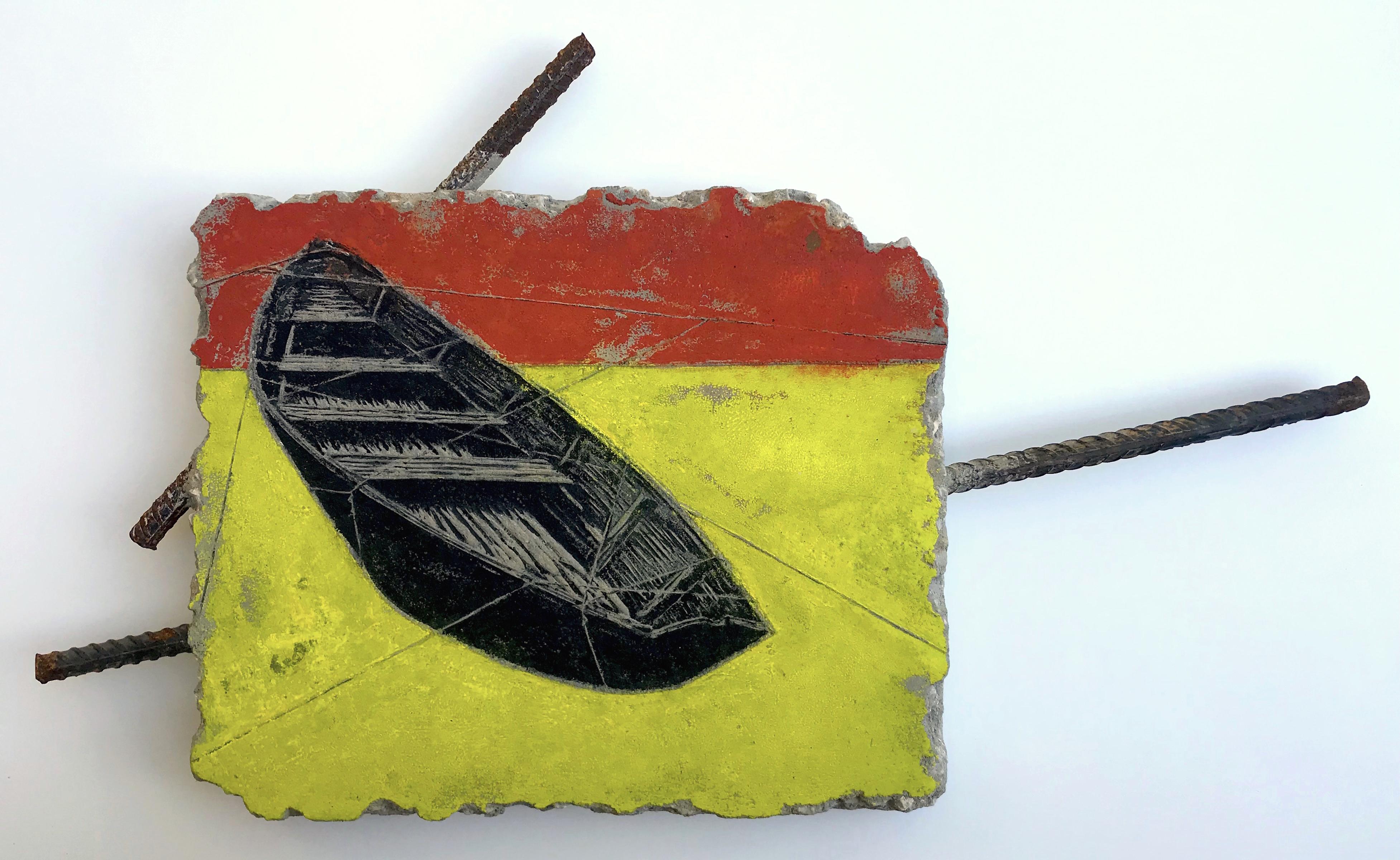 Dry Docked II | Concrete Relief Print