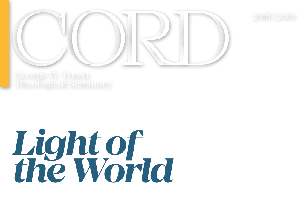 The Cord 2018 Cover - Light of the World