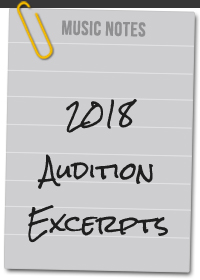 2018_Audition Excerpts