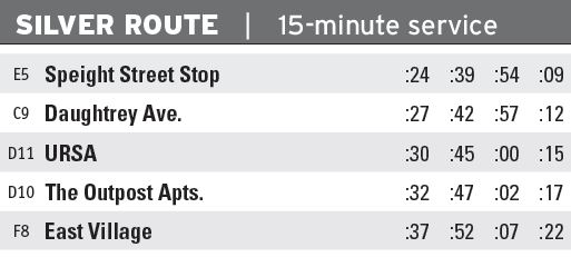 Silver Route Times