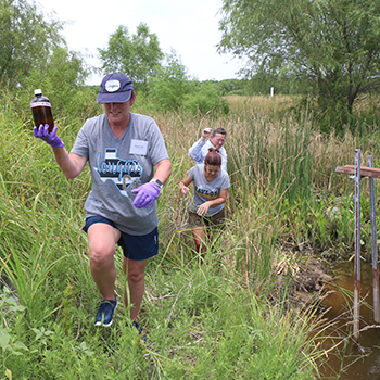 EPA Wetlands project: teachers gathering water samples