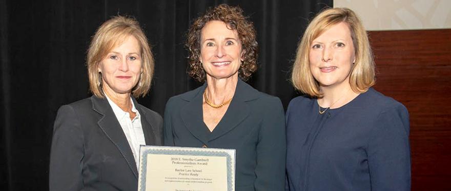 Group Photo of Gambrell Professionalism Award winners
