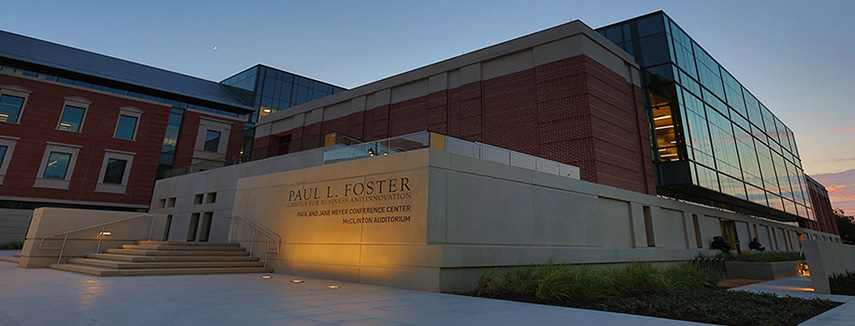 Paul Foster Campus for Business and Innovation Building at Night