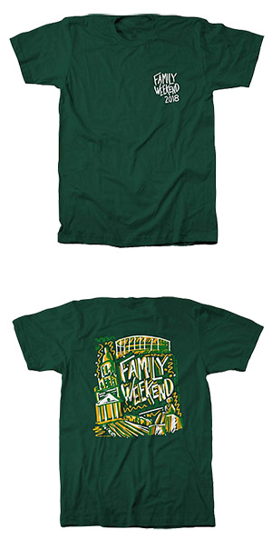 Family Weekend 2018 T-shirt: Pat Neff Hall