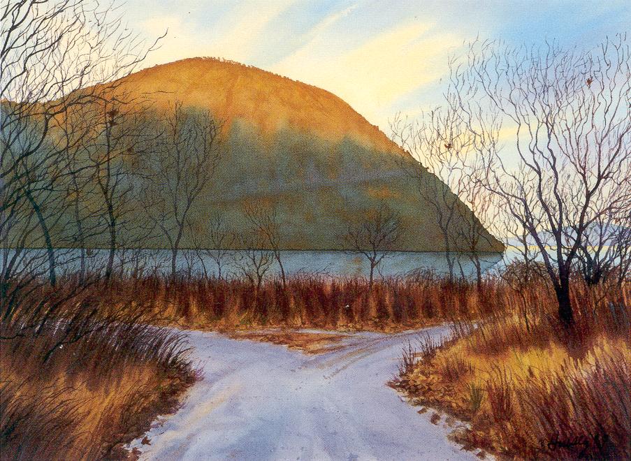 Dawn-Storm King watercolor by John Hulsey