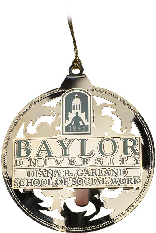 Social Work Christmas Ornament - front