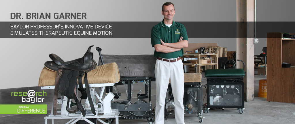 Dr. Brian Garner's Innovative device simulates therapeutic equine motion.
