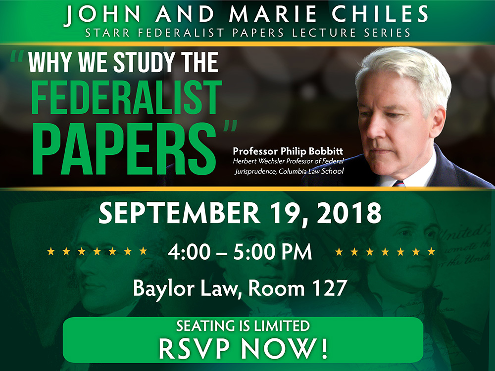 Starr Federalist Papers Lecture Series