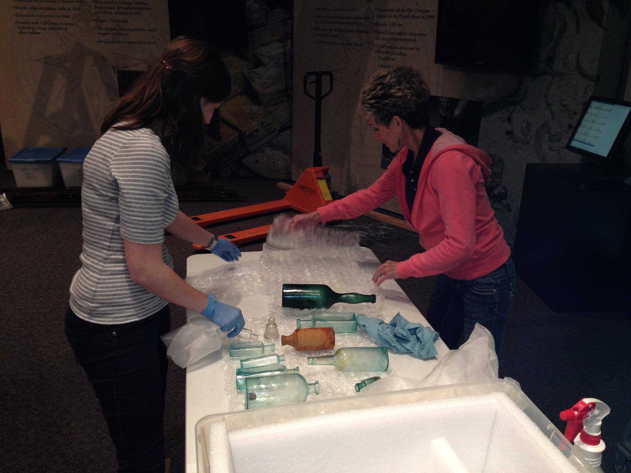 The department offers a graduate assistantship in exhibits at the Mayborn Museum. Students holding this position assist with the installation of temporary exhibits.
