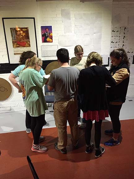 Students in the exhibit design course installed a new temporary exhibit at the Dr Pepper Museum and Free Enterprise Institute.