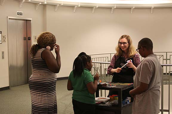Students in Prof. Lesa Bush's undergraduate museum education course created activities for the Mayborn Museum Complex's Science Night.