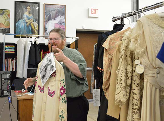 Students in Dr. Julie Holcomb's Preservation Management class visited the Texas Fashion Collection at the University of North Texas.