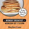 Baylor Law Faculty Hosts Midnight Breakfast Before Fall Finals