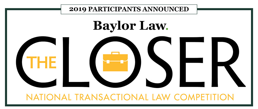 Baylor Law School's The Closer competition Banner