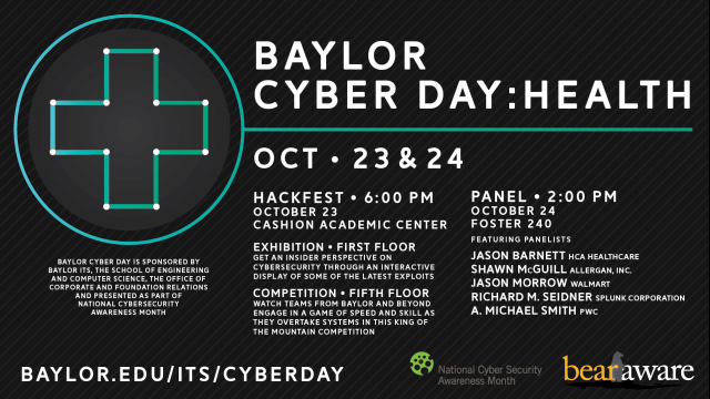 Baylor Cyber Day Advocates for Cybersecurity, Protection of Health Data