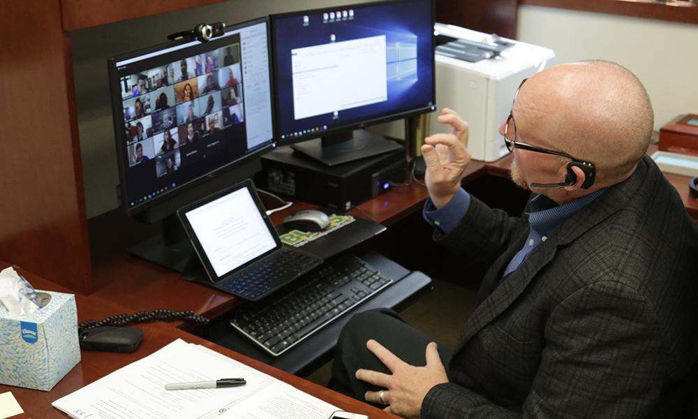 Dr. Tony Talbert, online teaching