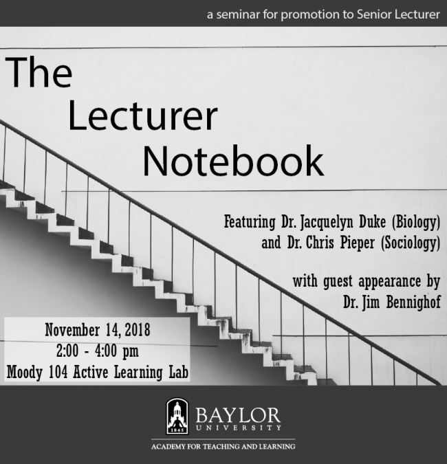 Flyer-The Lecturer Notebook (2019)