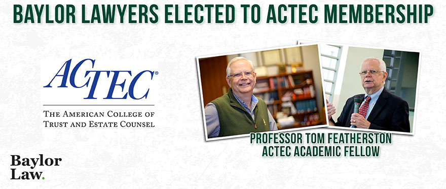 banner image of baylor Lawyer accolades