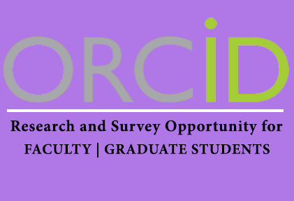 ORCID iD survey ad