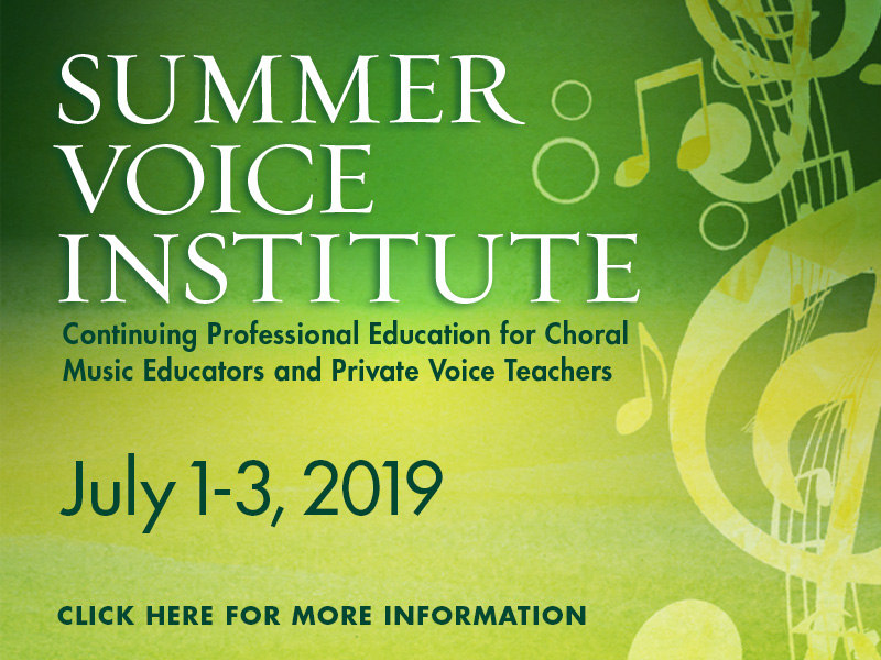 2019 Summer Voice Institute