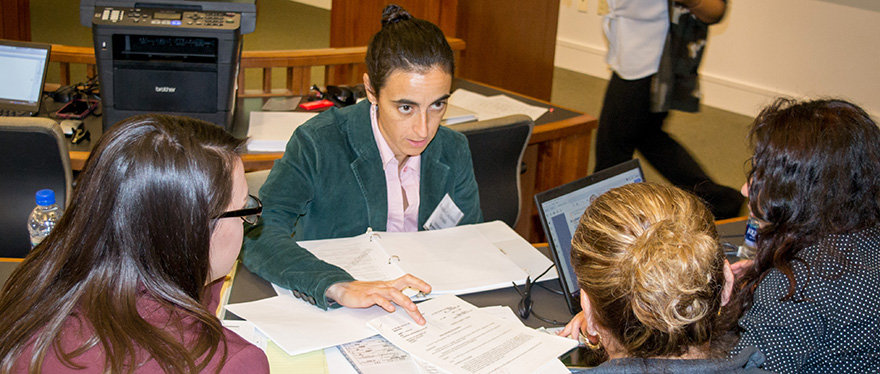 Rosario Colchero Dorado serves as an interpreter
