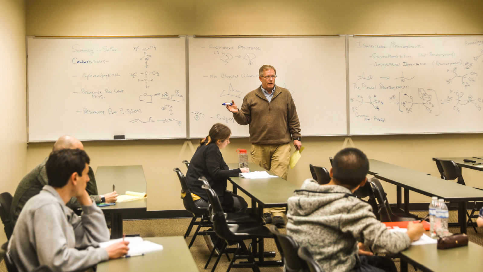Dr. John Wood lectures class