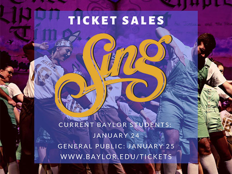 SING Tickets on Sale