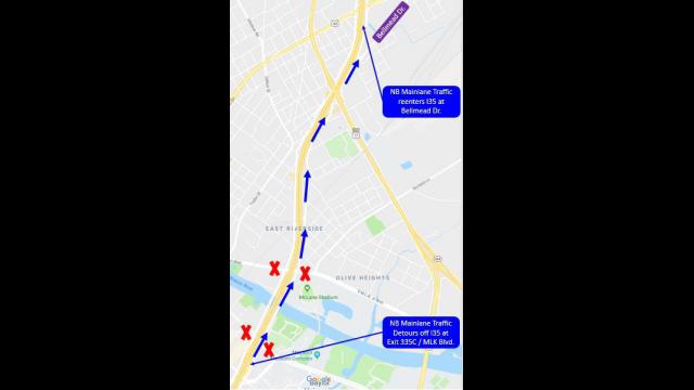 TxDOT Map 1 Northbound