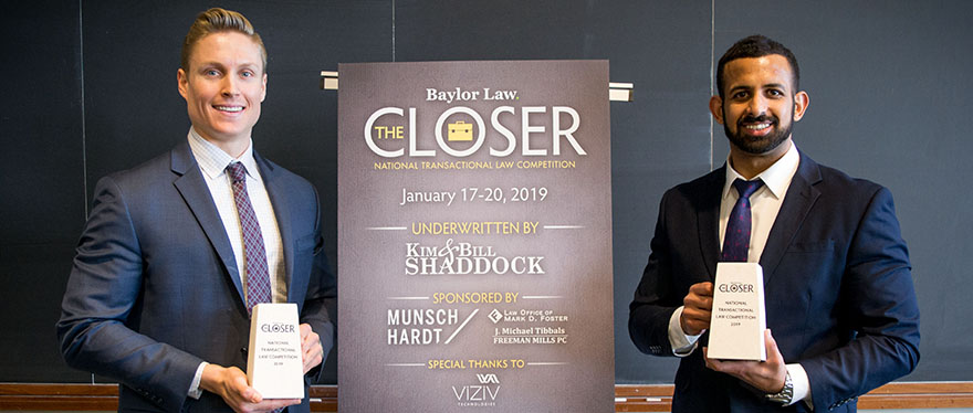 2019 Winners for The Closer Pictured
