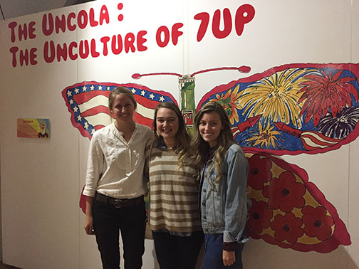 Students in Joy Summar-Smith's Exhibit Design class designed and installed an exhibit at the Dr Pepper Museum.
